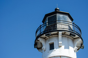 Detail view of Duluth Minnesota Canal Park Lighthouse
