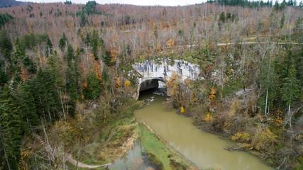 Rakov Skocjan (Rakov Škocjan) is a karst valley and the oldest landscape park in Slovenia. Big Natural Bridge (Veliki Naravni Most) is most important geologic phenomena of the park.