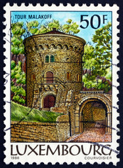 Postage stamp Luxembourg 1986 Malakoff Tower, Luxembourg