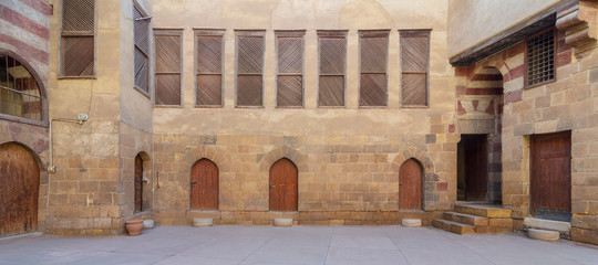 Courtyard of El Razzaz historic house, located at Darb Al-Ahmar district, Old Cairo, Egypt