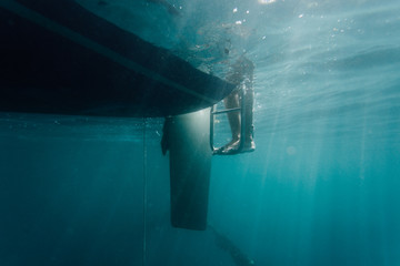 Teenager diver having a dive