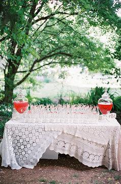 Outdoor country garden wedding