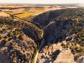 Aerial shoot of edit canyon