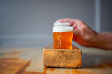 Tasting Flight of Beers at Pub