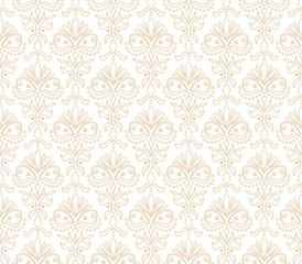 Vector Floral Ornamental Seamless Pattern. Geometric Flower Stylish Texture. Abstract Retro Tile Texture.