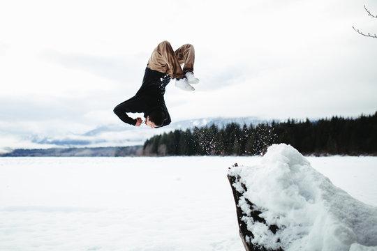 Backflip Into Snow