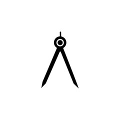 Technical compass icon. Simple outline vector of education set for UI and UX, website or mobile application