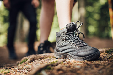 Hiker's Boot on the Ground