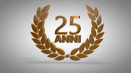 Anniversario 25 anni