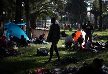 Migrants arrive in Mexico City