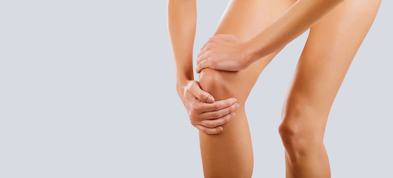 Pain, injury to the knee.