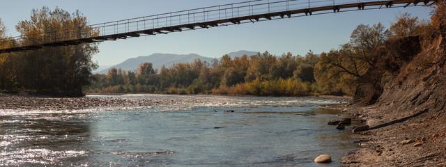 River mountain origin clean water-autumn.
