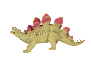 Stegosaurus green red toy close up
