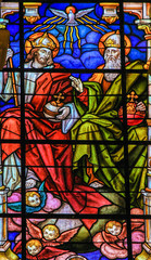 Holy Trinity - Stained Glass in Malaga Cathedral