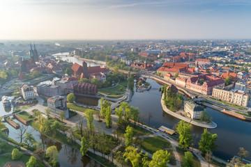Spring in Wrocław aerial view Fototapete
