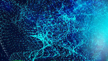 Digital Abstract Particles background