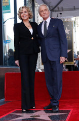 Actor Michael Douglas receives a star on Hollywood Walk of Fame