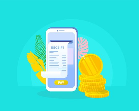 online payment, sending money via smartphone vector illustration concept can use for, landing page, template, ui, web, mobile app, poster, banner, flyer