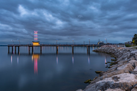 Burlington Ontario Brant Street Pier Night
