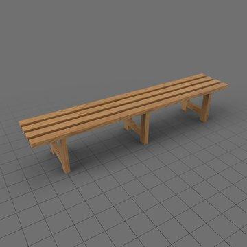 Locker room bench