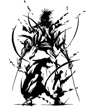 Japan Japanese, silhouette Samurai, shadow picture