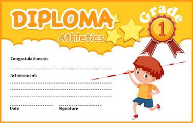 Grade one athletics diploma