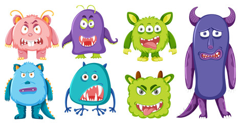 Set of monster character