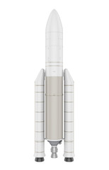 Space Rocket Isolated