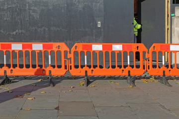 Orange Construction Barrier London