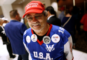 John Willis poses for a photograph before an election night party for Republican U.S. Senator Ted Cruz in Houston