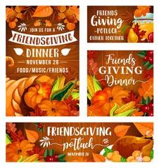 Friendsgiving potluck dinner, Thanksgiving day