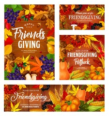 Friendsgiving holiday potluck dinner harvest party