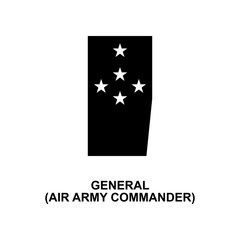 French general air army commander military ranks and insignia glyph icon