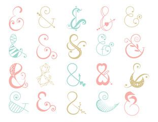 Collection Ampersands in Vector. Stylish Ampersands Illustration