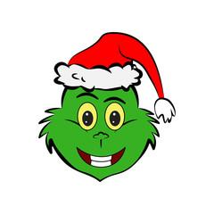 Grinch in smile emoji icon