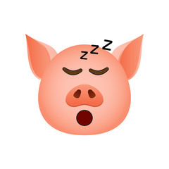 Pig in asleep emoji icon. Element of new year symbol icon for mobile concept and web apps. Detailed Pig in asleep emoji icon can be used for web and mobile