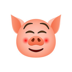 Pig in rolled his eyes emoji icon. Element of new year symbol icon for mobile concept and web apps. Detailed Pig in rolled his eyes emoji icon can be used for web and mobile