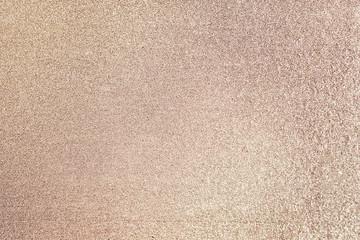 Close up of golden glitter textured background