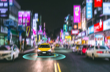Smart car, Self Driving vehicle with Radar signal system and and wireless communication, Autonomous car