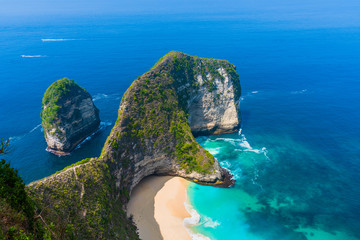 Foto op Canvas Asia land Manta Bay or Kelingking Beach on Nusa Penida Island, Bali, Indonesia