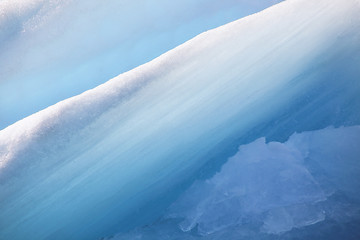 Close-up of an iceberg in the glacier lagoon Jokulsarlon, Iceland