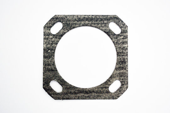 automotive gasket for the exhaust system isolated on white background