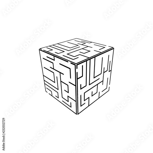 Cube maze icon  Element of Problem solving  Premium quality