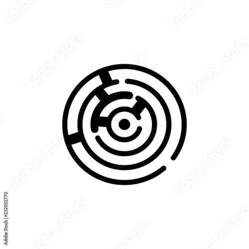 Maze icon  Element of Problem solving  Premium quality graphic