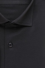 shirt, detailed close-up collar and button, top view