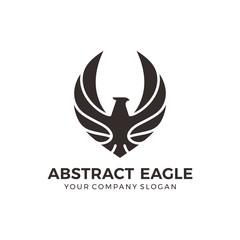 Modern black eagle logo