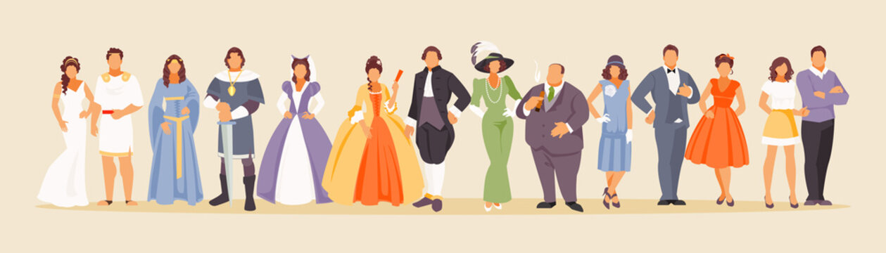 History of fashion vector