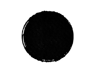 Grunge black circle.Grunge paint oval shape.Grunge element made for your project.