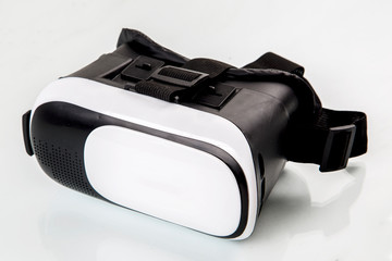 virtual reality glasses on a white background