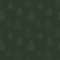 Christmas seamless pattern in green colors. Ideal for background, wrapping paper, festive decor.
